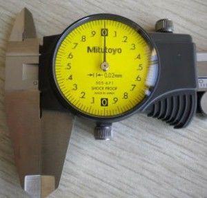 Mitutoyo 505-681 Dial Caliper; 0-150mm Range-1mm