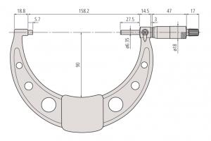 Mitutoyo 103-142-10 Micrometer Range 125-150mm Resolution 0.01mm-2