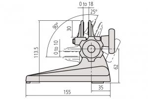 Mitutoyo 156-101-10 Micrometer Stand-4