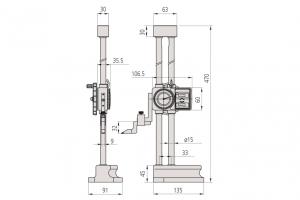Mitutoyo 192-130 Double Scale Vernier Height Gauge Range 300mm Resolution 0.01mm-5