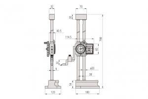 Mitutoyo 192-132 Double Scale Vernier Height Gauge Range 600mm Resolution 0.01mm-5