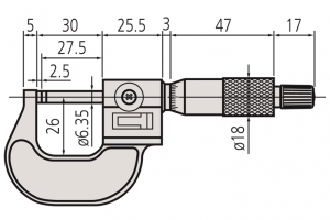 Mitutoyo 193-111 Micrometer with Mechanical Counter Range 0-25mm Resolution 0.001mm-2
