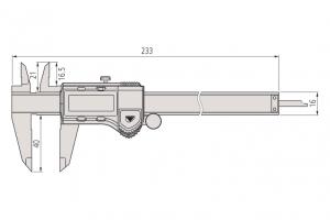Mitutoyo 500-171-30 Digimatic Caliper ABS Range-0-150mm Resolution-0.01mm-5