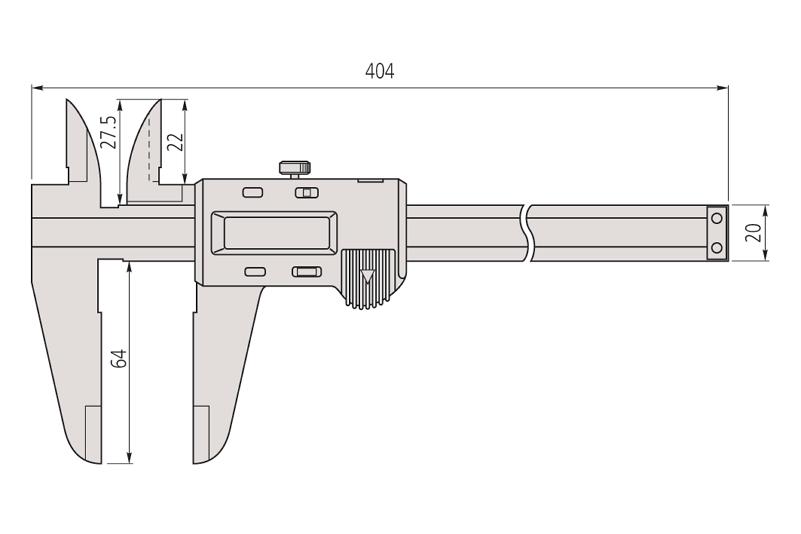 Mitutoyo 500-173 Digimatic Caliper ABS Range-0-300mm Resolution-0.01mm-5