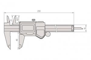 Mitutoyo 500-752-10 Digimatic Caliper ABS Range-0-150mm Resolution-0.01mm-5