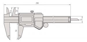 Mitutoyo 500-753-10 Digimatic Caliper ABS Range-0-200mm Resolution-0.01mm-5