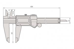Mitutoyo 500-754-10 Digimatic Caliper ABS Range-0-300mm Resolution-0.01mm-5