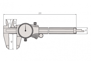 Mitutoyo 505-671 Dial Caliper Range 150mm Resolution 0.02mm-2
