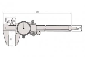 Mitutoyo 505-672 Dial Caliper; Range-0-200mm Resolution-0.02mm-2