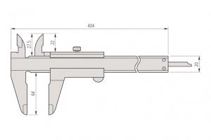 Mitutoyo 530-119 High Accuracy Vernier Caliper Range 300mm Resolution 0.02mm-2