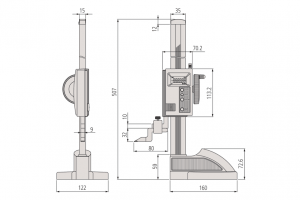 Mitutoyo 570-312 ABSOLUTE Digimatic Height Gauge Range 300mm Resolution 0.01mm-6