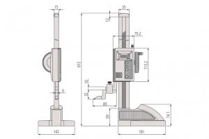 Mitutoyo 570-314 ABSOLUTE Digimatic Height Gauge Range 600mm Resolution 0.01mm-2