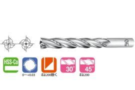 4刃特長刃HSS立銑刀EXML
